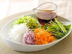 カラフル千切り野菜
